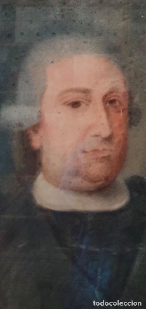 Arte: GIACOMO CAMBRUZZI - 1785 - PASTEL Y PERGAMINO - RETRATO JACOBO MARÍA SPINOSA CANTABRANA. - Foto 3 - 257481435