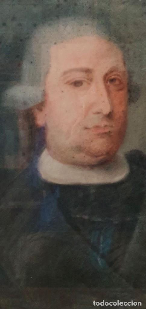 Arte: GIACOMO CAMBRUZZI - 1785 - PASTEL Y PERGAMINO - RETRATO JACOBO MARÍA SPINOSA CANTABRANA. - Foto 4 - 257481435