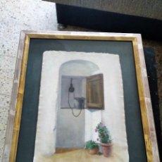 Arte: ACUARELA - FIRMADA CORBERA - PUERTA RUSTICA. Lote 257673290