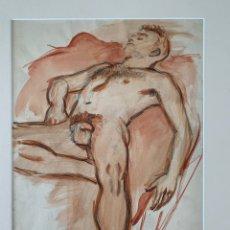 Art: ACUARELA RETRATO MASCULINO GRAN CALIDAD. Lote 257993945