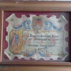 Arte: ANTIGUA ACUARELA DE FIESTAS HOGUERAS DE ALICANTE 1969. Lote 258119825