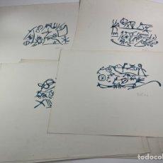 Arte: SERIE DE 10 ACUARELAS ORIGINALES, 20 POEMAS DE AMOR PABLO NERUDA. S.XX.. Lote 258518980