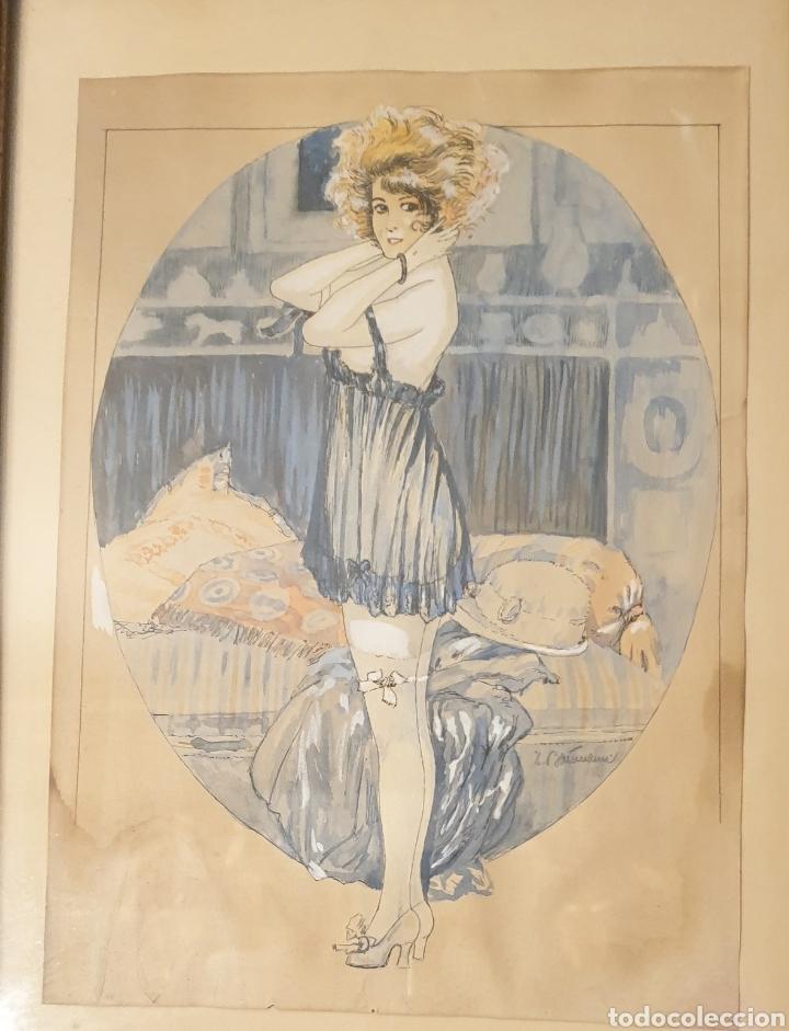 Arte: Acuarela modernista principios siglo XIX - Foto 2 - 258786740