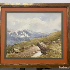 Arte: ACUARELA FIRMADA POR SANTIAGO GUTIÉRREZ DE LA CONCHA. Lote 259268325