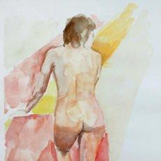 Arte: DESNUDO FEMENINO DE ESPALDAS - CARLOS ASENSIO. Lote 260390870
