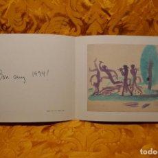 Arte: FELICITACION, TARJETA DE NAVIDAD DE JOSEP OBIOLS. Lote 260451265