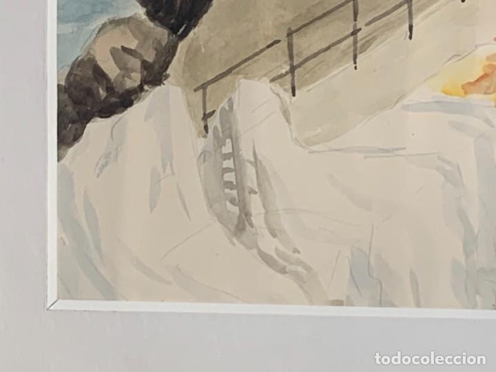 Arte: ACUARELA URBANA FIRMA DIAZ PASEO MARITIMO CALLE QUIZAS IBIZA SAN ANTONIO PORTMANY 72X86CMS - Foto 12 - 260757110