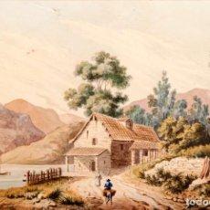 Arte: GUISSONA 1854 - ACUARELA DE J. SOLDEVILA. Lote 261363690