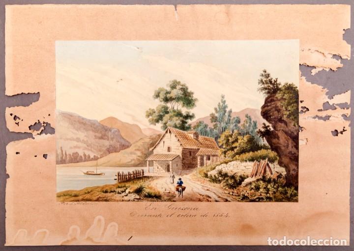 Arte: GUISSONA 1854 - ACUARELA DE J. SOLDEVILA - Foto 2 - 261363690
