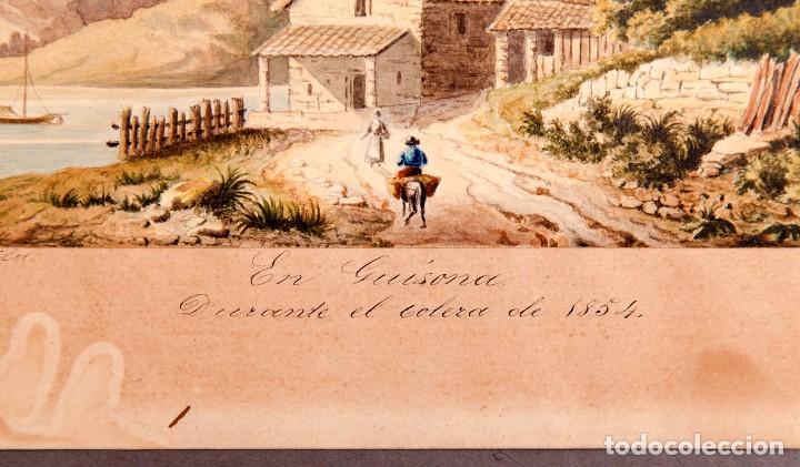 Arte: GUISSONA 1854 - ACUARELA DE J. SOLDEVILA - Foto 3 - 261363690