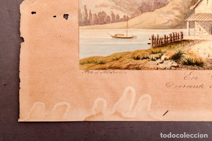 Arte: GUISSONA 1854 - ACUARELA DE J. SOLDEVILA - Foto 4 - 261363690