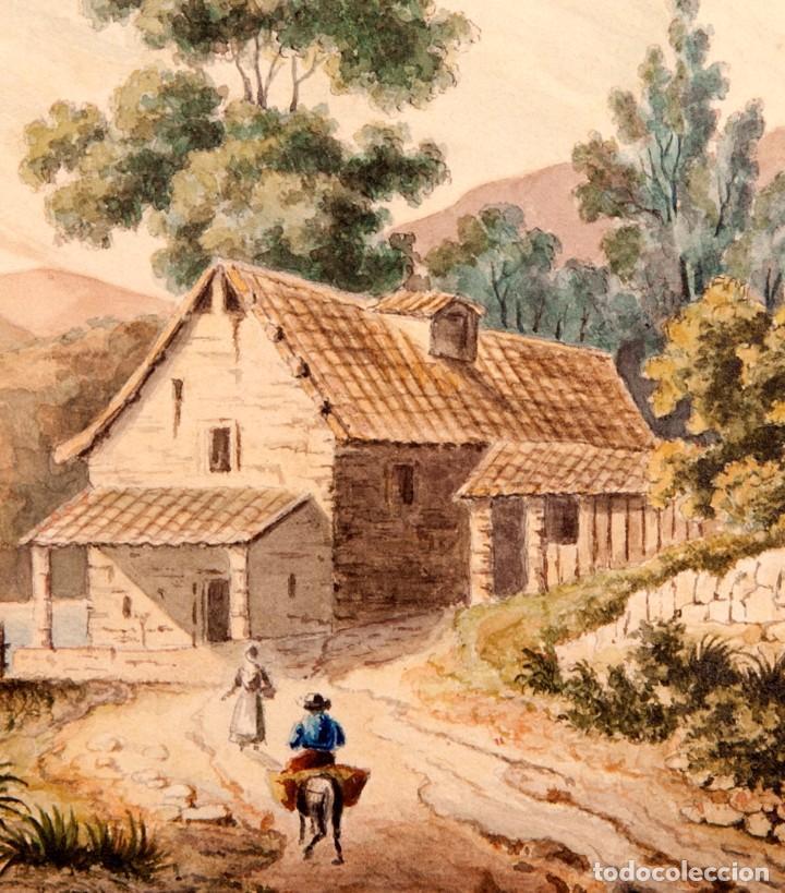 Arte: GUISSONA 1854 - ACUARELA DE J. SOLDEVILA - Foto 5 - 261363690