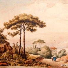 Arte: GUISSONA 1854 - ACUARELA DE J. SOLDEVILA. Lote 261363815