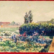 Arte: PAISAJE RURAL. FIRMADO VENTOSA. ACUARELA SOBRE PAPEL. ESPAÑA. 1907. Lote 261799365