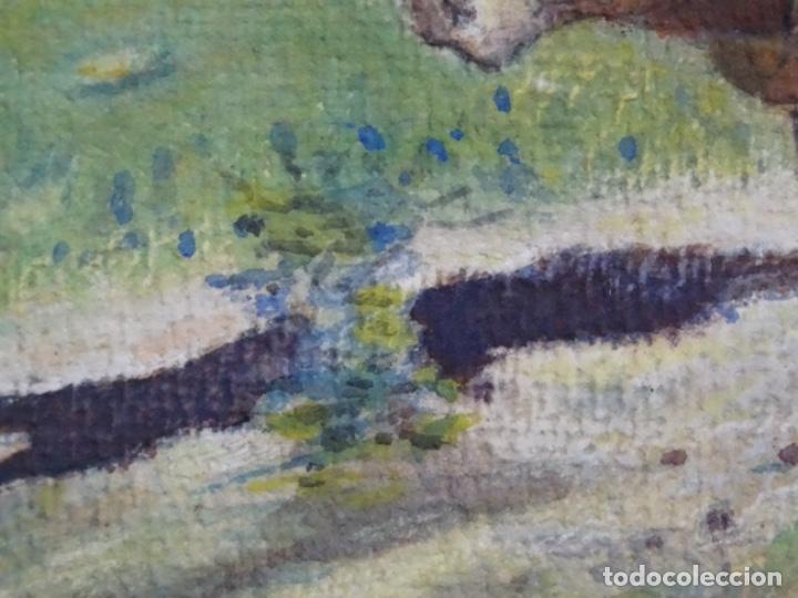 Arte: GRAN ACUARELA DE BALDOMERO GALOFRE I GIMÉNEZ (REUS 1849-BARCELONA 1902).1896. CAMPESINO CON BUEYES. - Foto 12 - 262124200