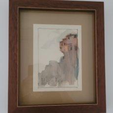 Arte: ACUARELA JOSÉ SEGRELLES ALBERT (1885-1969 ALBAIDA(VALENCIA)) 16X22CM SIN MARCÓ 31X37CM CON MARCO. Lote 262188315