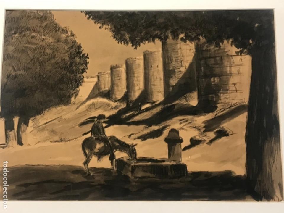 Arte: ACUARELA POSIBLEMENTE DE TOLEDO 1950'S. DESCONOCEMOS AUTOR. - Foto 2 - 262276380