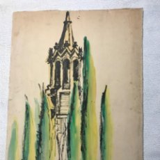 Arte: ACUARELA FIRMADA CERVELLÓ 1970'S.. Lote 262279585