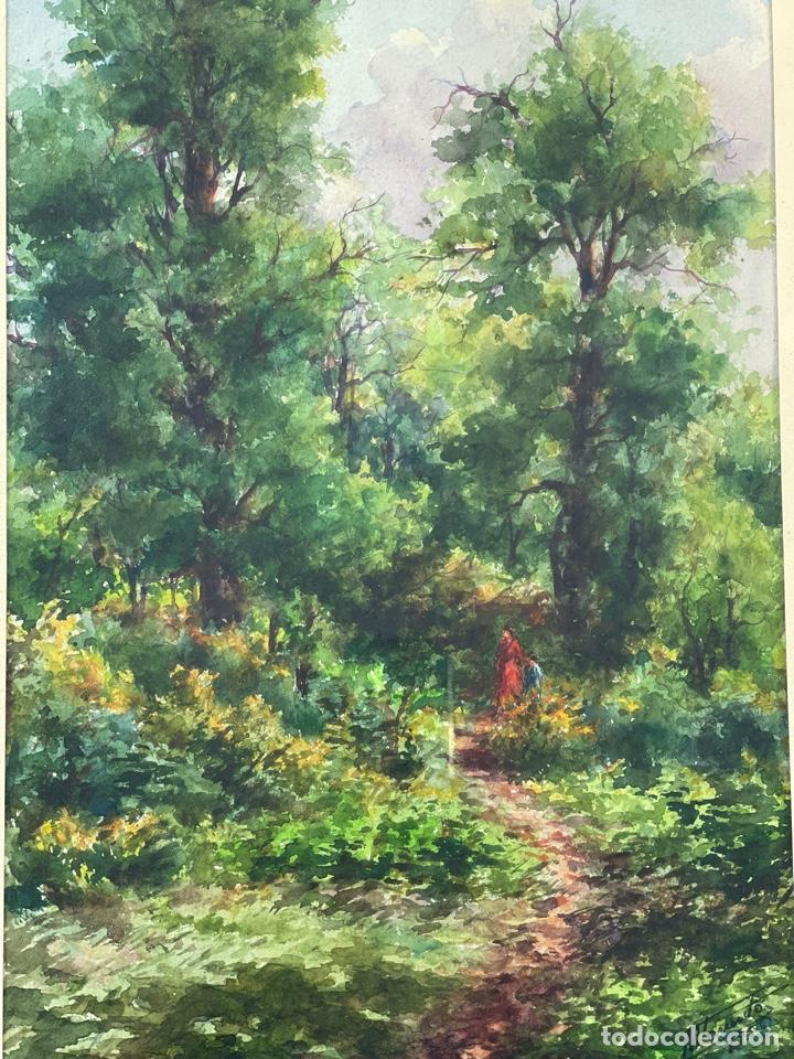 Arte: C-1006. ACUARELA SOBRE PAPEL. FIRMADA 1956. - Foto 2 - 262735300