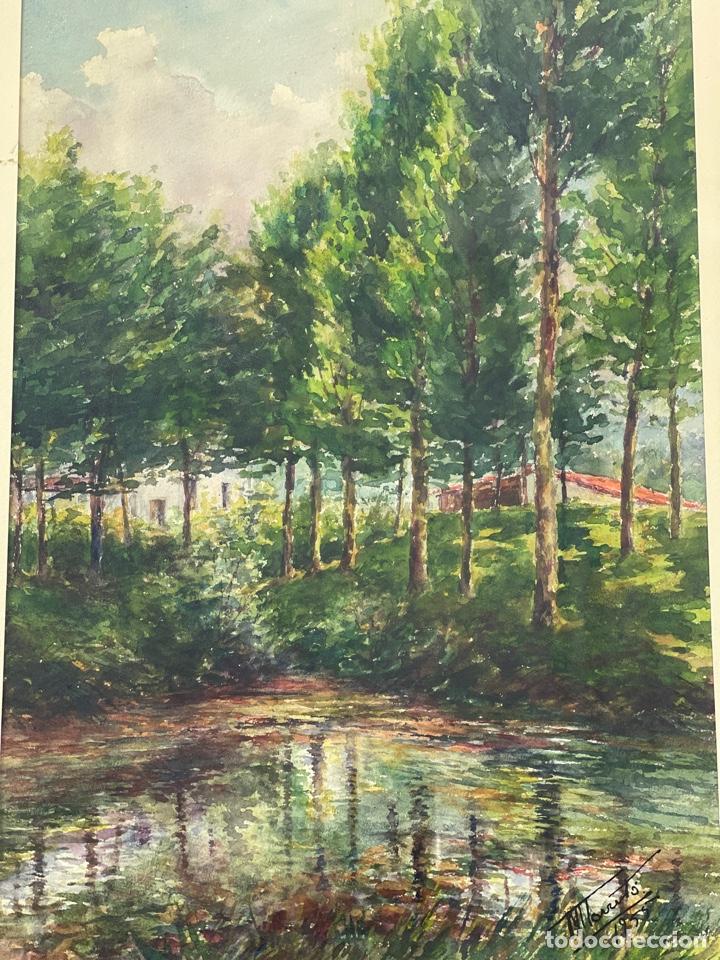 Arte: C-1005. ACUARELA SOBRE PAPEL. FIRMADA 1956. - Foto 2 - 262735485