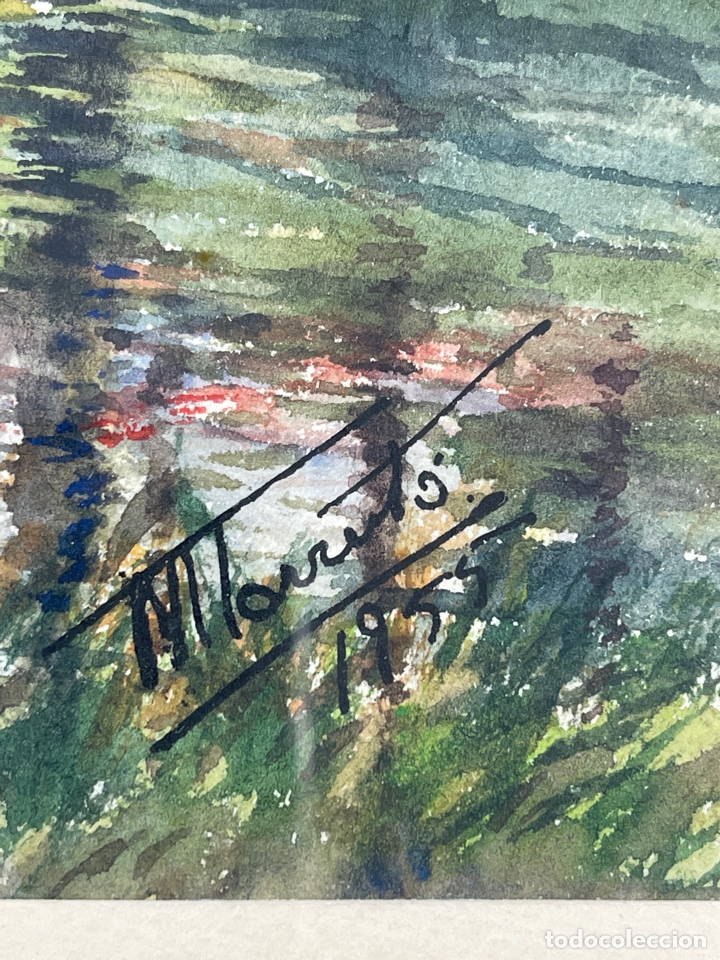 Arte: C-1005. ACUARELA SOBRE PAPEL. FIRMADA 1956. - Foto 3 - 262735485