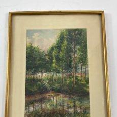 Arte: C-1005. ACUARELA SOBRE PAPEL. FIRMADA 1956.. Lote 262735485