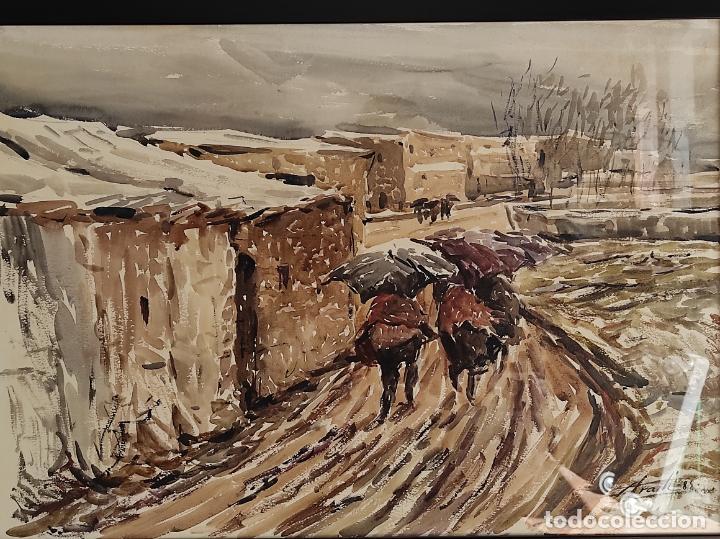 Arte: Josep Traité Compte (Olot 1935) - Acuarela - Paisaje - Año 1988 - Foto 2 - 262842950