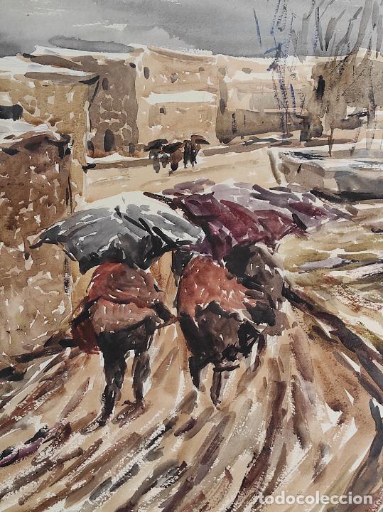 Arte: Josep Traité Compte (Olot 1935) - Acuarela - Paisaje - Año 1988 - Foto 3 - 262842950
