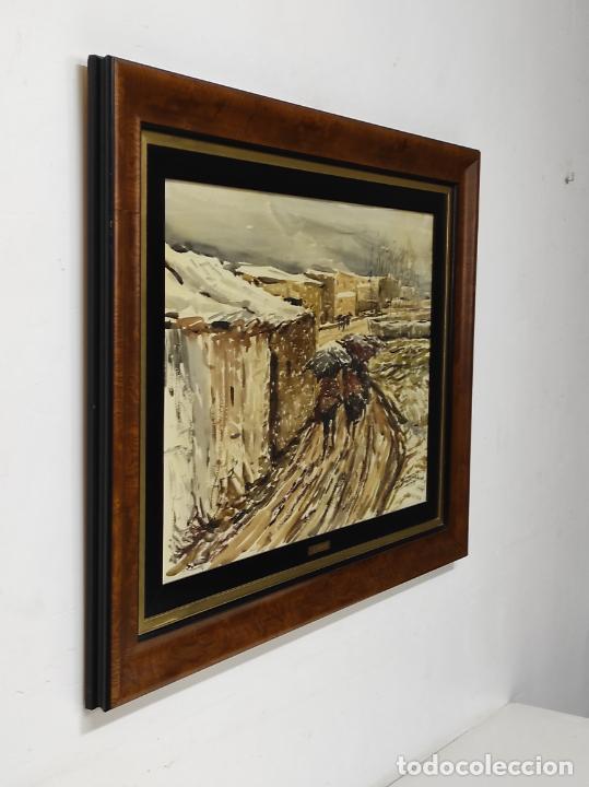 Arte: Josep Traité Compte (Olot 1935) - Acuarela - Paisaje - Año 1988 - Foto 6 - 262842950