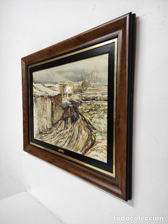 Arte: Josep Traité Compte (Olot 1935) - Acuarela - Paisaje - Año 1988 - Foto 7 - 262842950