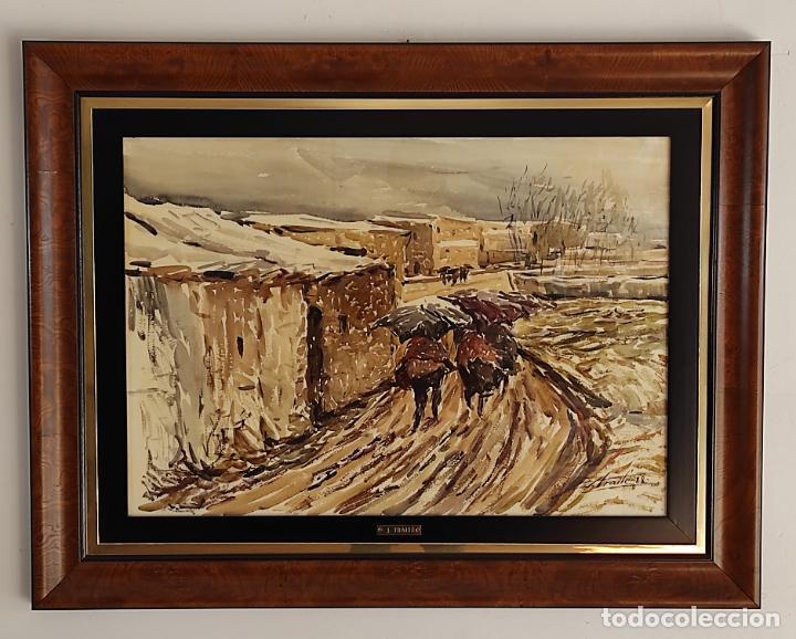 Arte: Josep Traité Compte (Olot 1935) - Acuarela - Paisaje - Año 1988 - Foto 9 - 262842950
