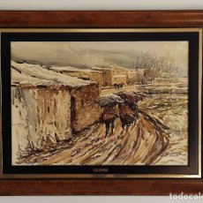 Arte: JOSEP TRAITÉ COMPTE (OLOT 1935) - ACUARELA - PAISAJE - AÑO 1988. Lote 262842950