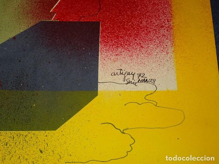 Arte: (M) FRANCESC ARTIGAU 1972 SERIE MAN28 - DIBUJO ORIGINAL ABSTRACTO, 32,5X44CM, TÉCNICA MIXTA - Foto 3 - 262876285