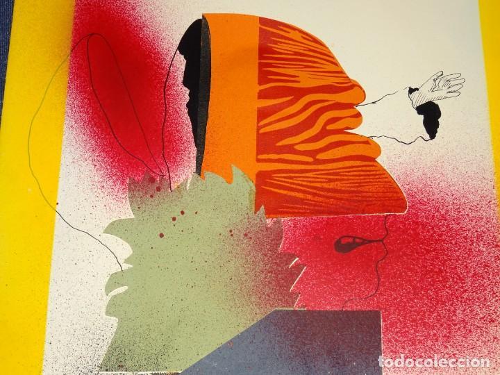 Arte: (M) FRANCESC ARTIGAU 1972 SERIE MAN28 - DIBUJO ORIGINAL ABSTRACTO, 32,5X44CM, TÉCNICA MIXTA - Foto 5 - 262876285