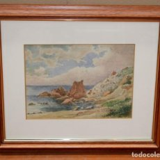 Arte: JOSEP BERGA I BOIX (1837-1914) - ACUARELA - SANT FELIU DE GUIXOLS - 1913.. Lote 262932630