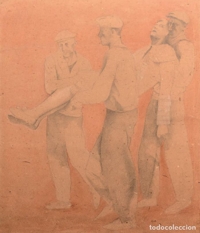 PRUNA . TOREADOR PORTÉS PAR TROIS BALLET . (Arte - Acuarelas - Contemporáneas siglo XX)