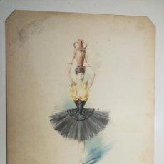 Arte: DISEÑO DE VESTUARIO ESCENICO DE CHARLES BIANCHINI. REVUE DU CERCLE DES MIRLITONS 1893.. Lote 264821294