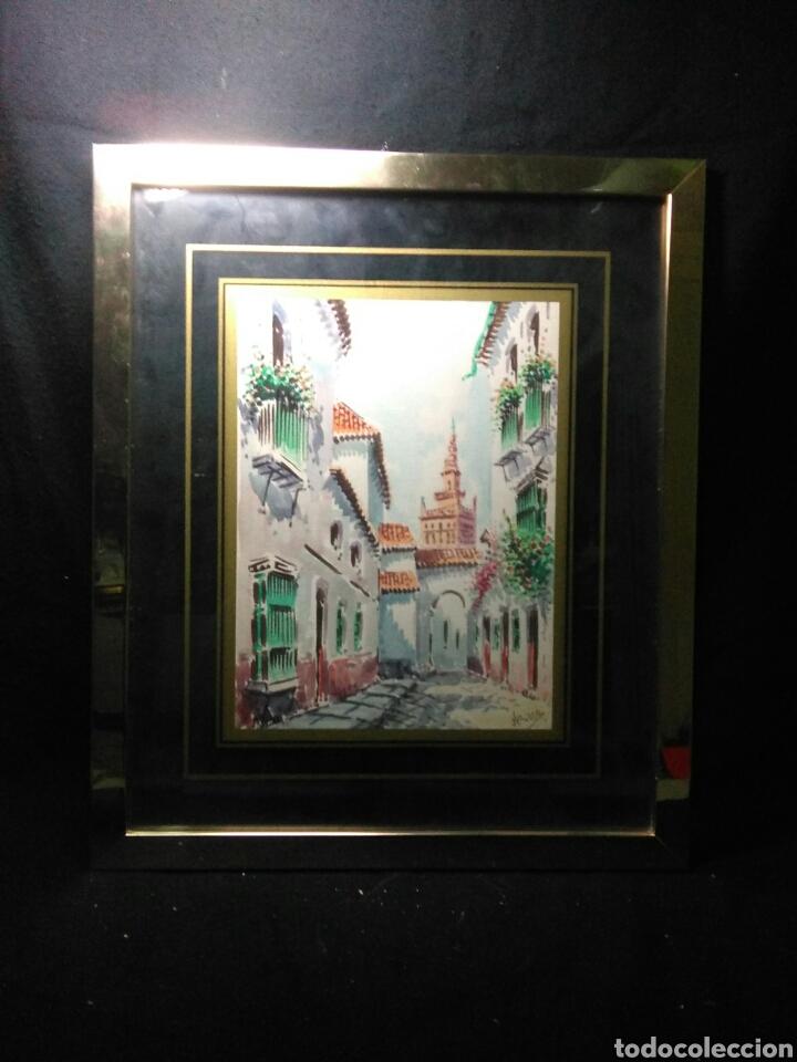 Arte: Preciosa acurela sobre papel ,calles de sevilla ,firmada angulo inferior derecho - Foto 5 - 265360349
