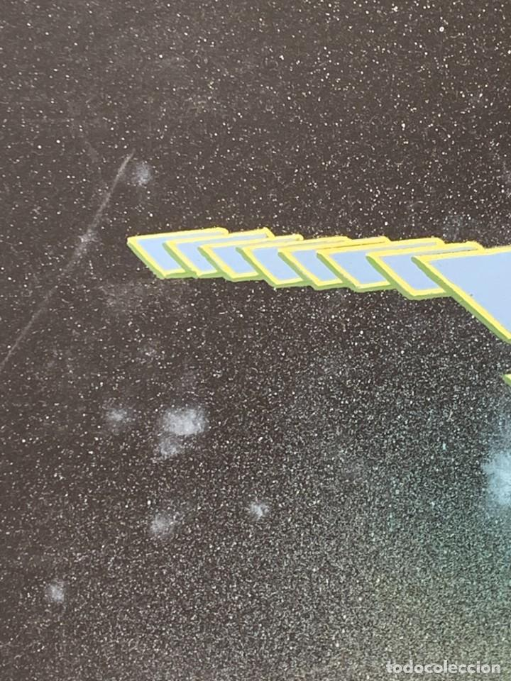Arte: CUADRO ACUARELA GOUACHE AEROGRAFO AÑOS 70 80 ESPACIO SATELITE NAVE ERA ESPACIAL JIMENO 51X60CMS - Foto 4 - 265954203