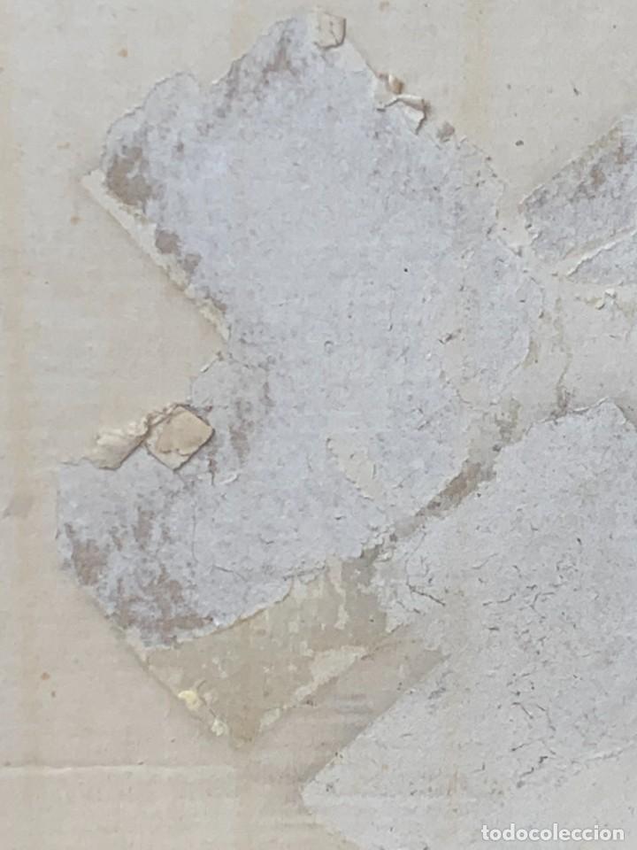 Arte: CUADRO ACUARELA GOUACHE AEROGRAFO AÑOS 70 80 ESPACIO SATELITE NAVE ERA ESPACIAL JIMENO 51X60CMS - Foto 11 - 265954203