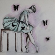 Arte: BAILARINA OBRA DE GILABERTE. Lote 267565579