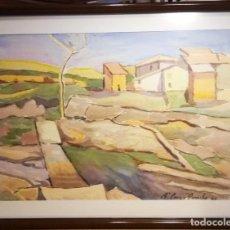 Arte: ATRACTIVA ACUARELA DEL PINTOR PUIG Y PERUCHO. Lote 268040449