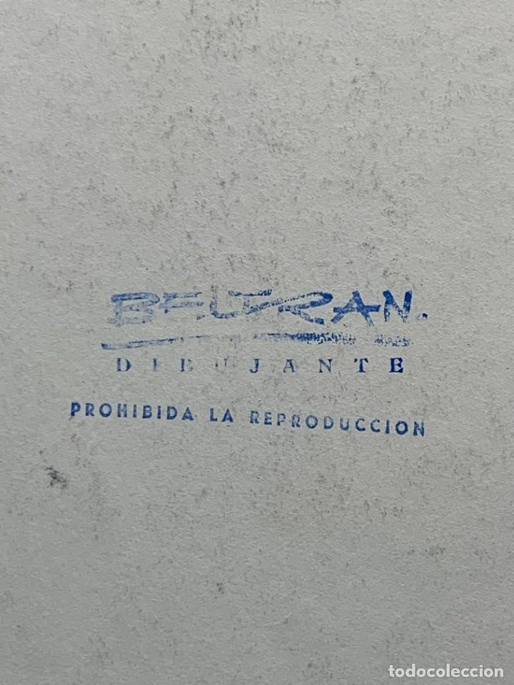 Arte: ACUARELA FIRMADA BELTRAN DIBUJANTE DIBUJO BAILAORA FLAMENCO VESTIDO LUCES MITAD S XX 50X35CMS - Foto 15 - 268443824