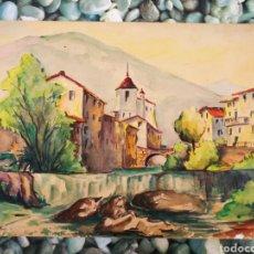 Arte: ACUARELA ATRIBUÏDA LLIBERT SABRIÀ (VILANOVA I LA GELTRÚ), 33X25CM.. Lote 268589379