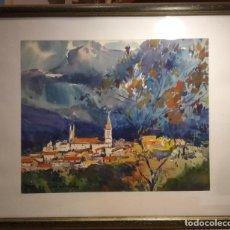 Arte: ANOCHECER EN VALLDEMOSA OBRA DE RAMON SANVISENS. Lote 268884314