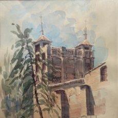 Arte: MUÑOZ BARBERAN, ACUARELA DE MURCIA. PINTOR DE LORCA.. Lote 251243760