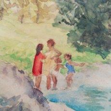 Arte: ACUARELA RAMÓN GUTIÉRREZ OLIAGA. Lote 268952629