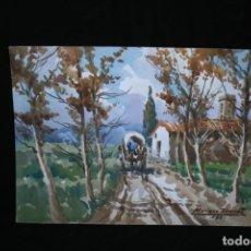 Arte: MARIANO BRUNET (VICH, BARCELONA 1918) BONITA ACUARELA SOBRE PAPEL. PAISAJE. Lote 268966784