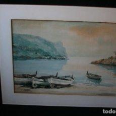Arte: JOAN FUSTER GIMPERA (TORROELLA DE MONTGRÍ, 1917-2011) ESTUPENDA ACUARELA . MARINA DE LA COSTA. Lote 268971794