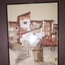 Arte: CASAS DE PUEBLO ACUARELA J.PEDRAZA OSTOS. Lote 268979904